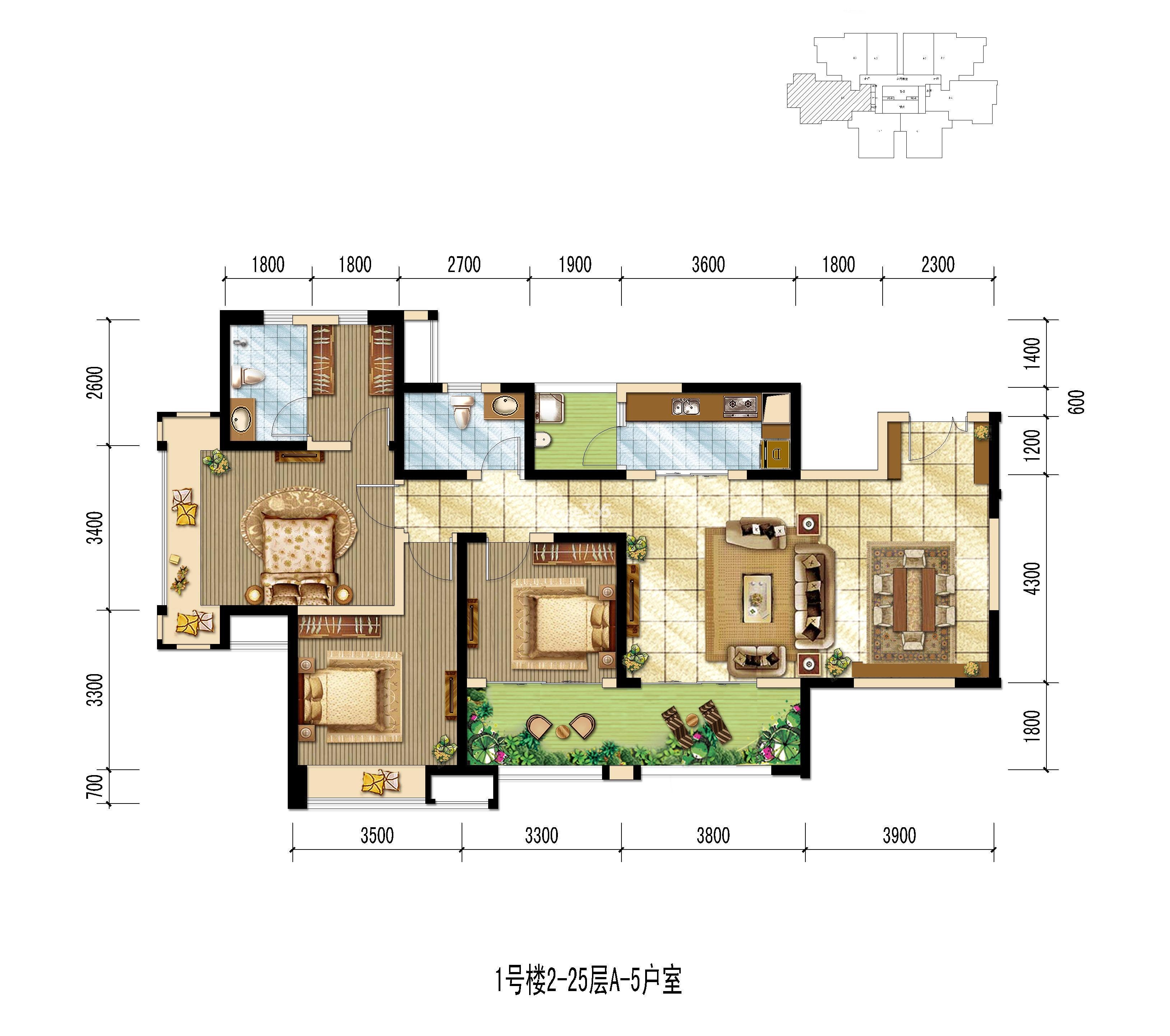 世龙公馆A-5户型图