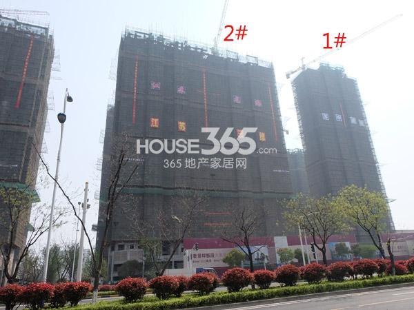 弘阳广场工程进度实景图(2014.4.9)