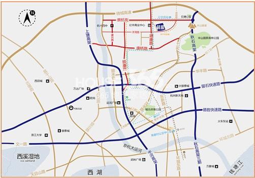 赞成杭家交通图