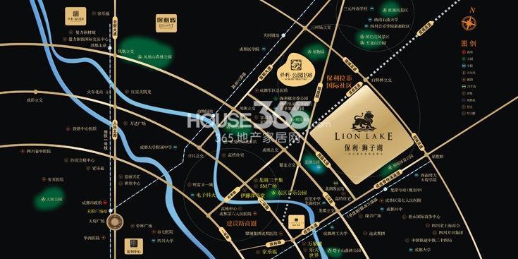 保利狮子湖交通图