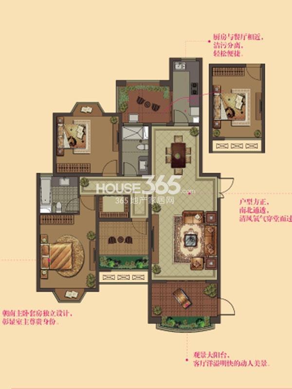 W12户型-2房2厅2卫-143平