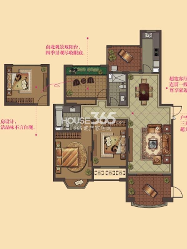 W11户型-2房2厅2卫-141平