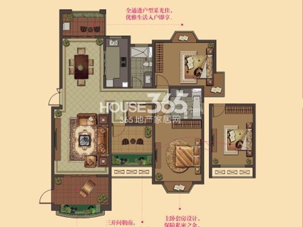 W13户型-2房2厅2卫-143平