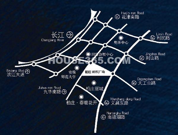 柏庄时代金座(办公 公寓)交通图