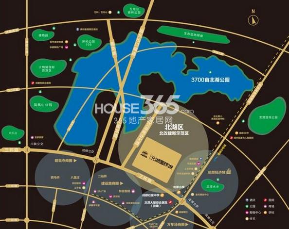 中国铁建北湖国际城交通图