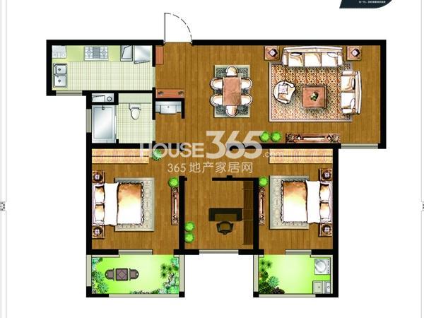 9#楼B2户型-3房2厅1卫-约115平