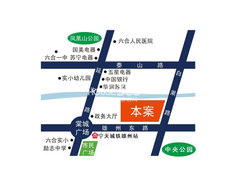 御珑湾交通图