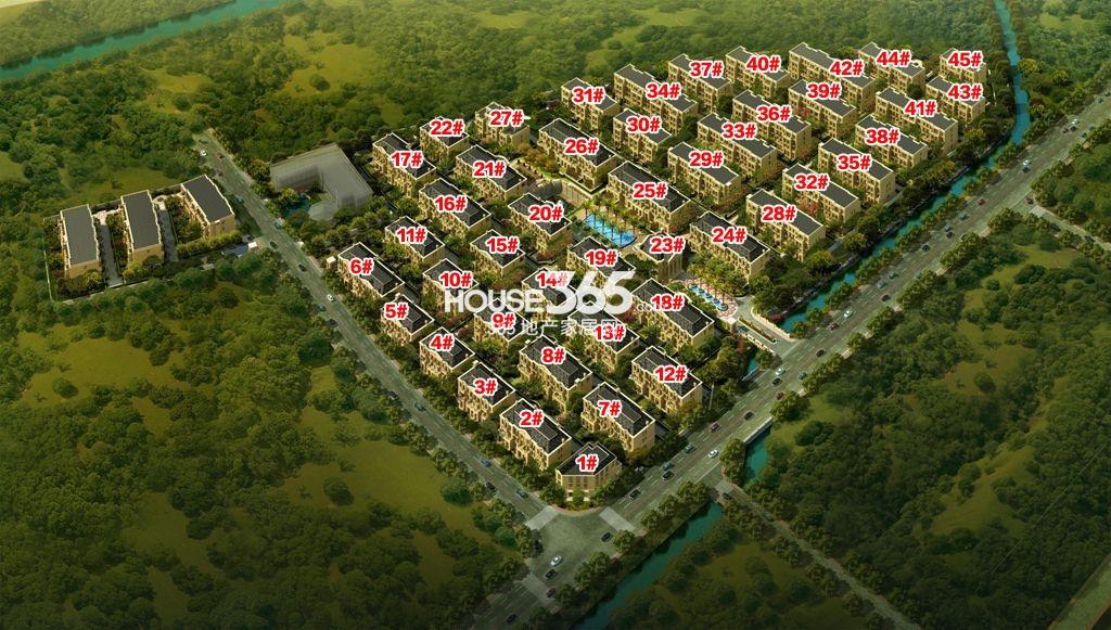 滨江西溪明珠鸟瞰图