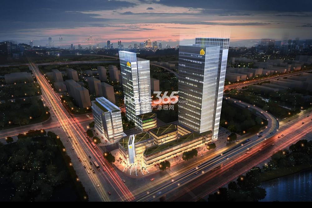 南京城际空间站(原绿地之窗)效果图