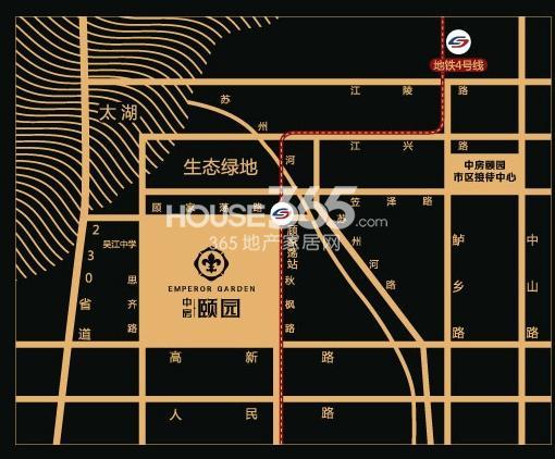 中房颐园交通图
