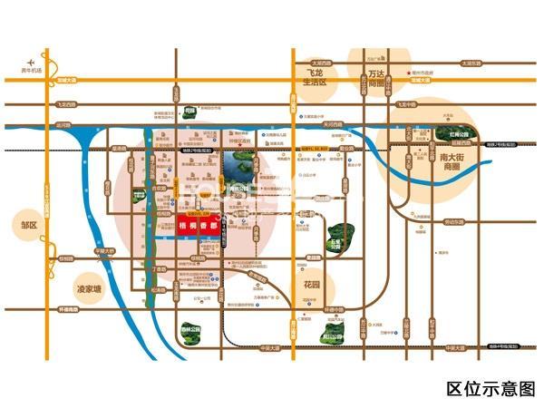 梧桐香郡交通图
