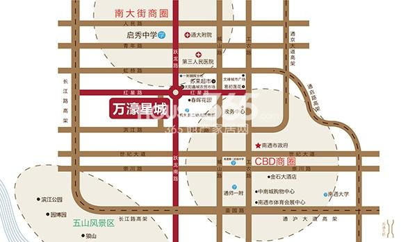 万濠星城交通图