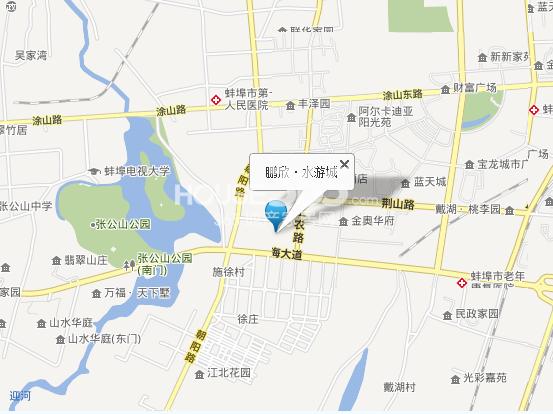 鹏欣水游城交通图