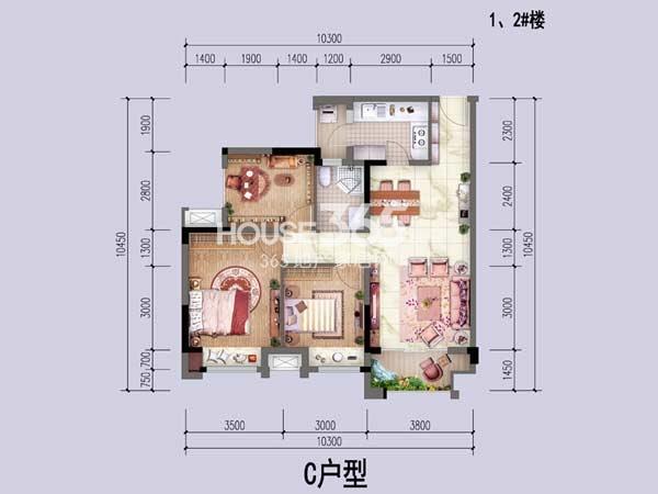 中国铁建公园1159户型图