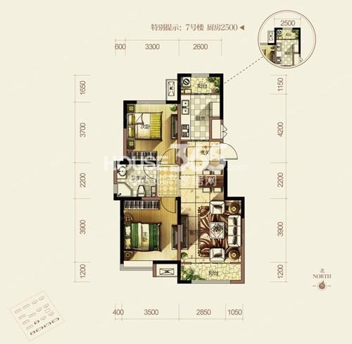 洋房85平米