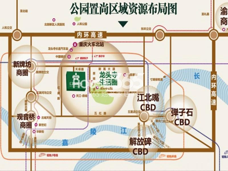 公园置尚交通图