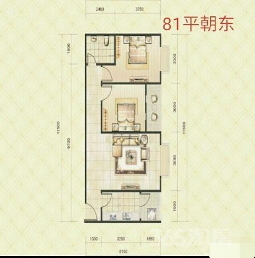 电子正街一室46�O两室82�O现房低价出售