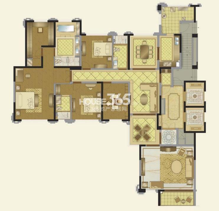 华润金悦湾I3户型4室4厅3卫 249平
