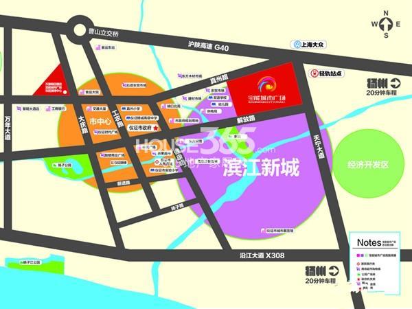 宝能城市广场交通图