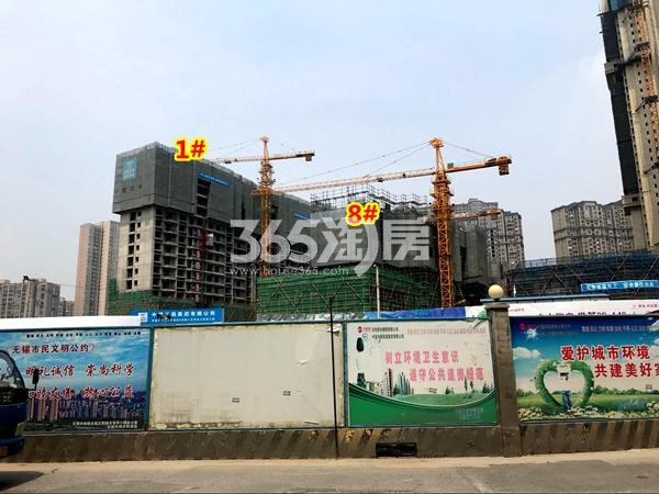 世茂时光里1#、8#楼工程进度实景(2018.4摄)