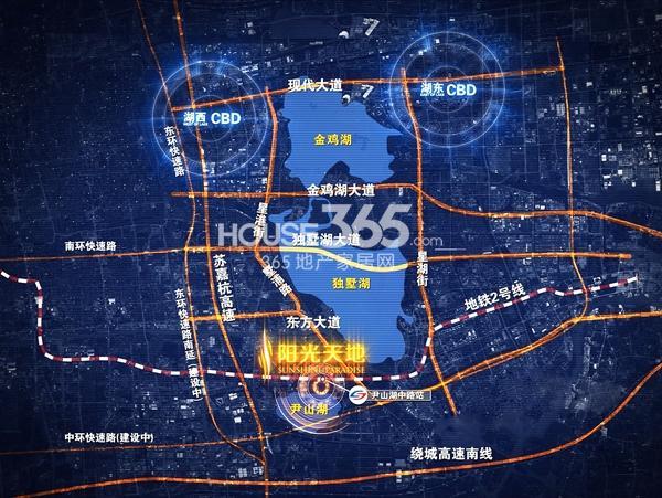 阳光天地商业广场交通图