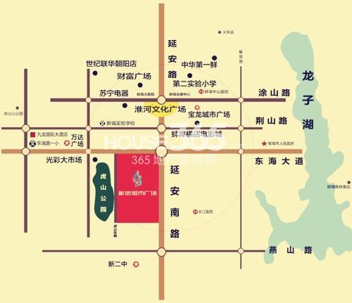 蚌埠新地城市广场交通图