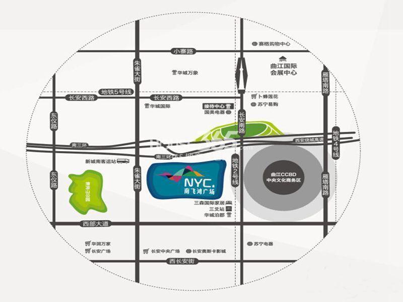 南飞鸿广场交通图