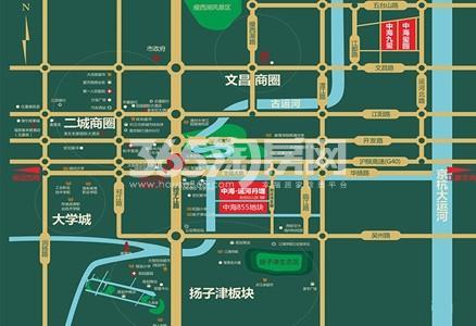 中海运河丹堤交通图