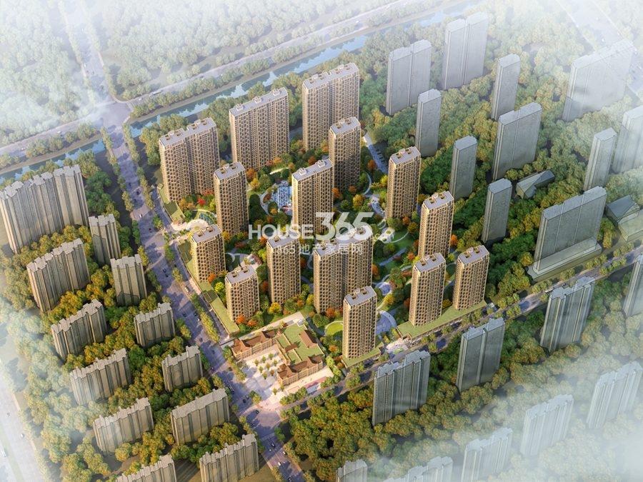 中国铁建江南国际城鸟瞰图