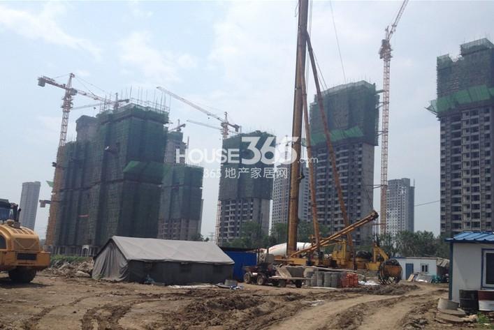 恒大御景湾2014年9月项目高层实景图