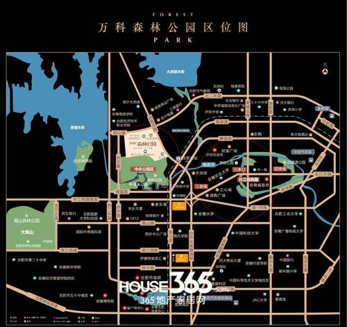 万科森林公园交通图