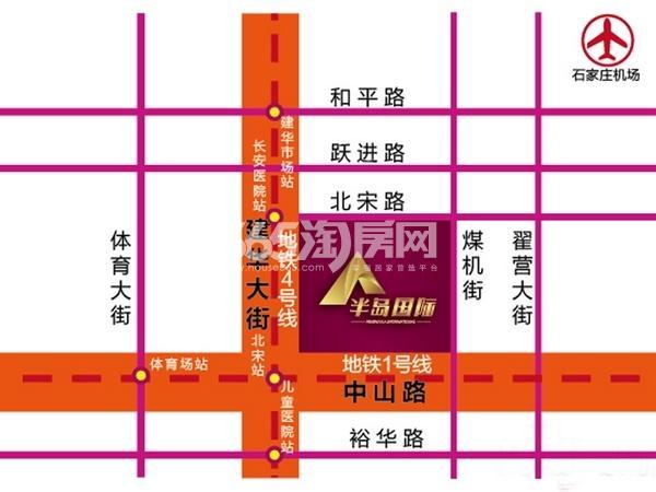 半岛国际·建华城市广场交通图