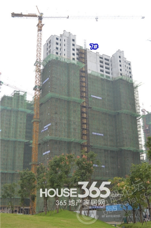 万科森林公园9月工程进度(2014.09.18)
