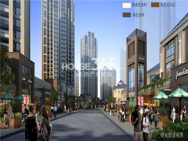 绿都万和城商业街透视图