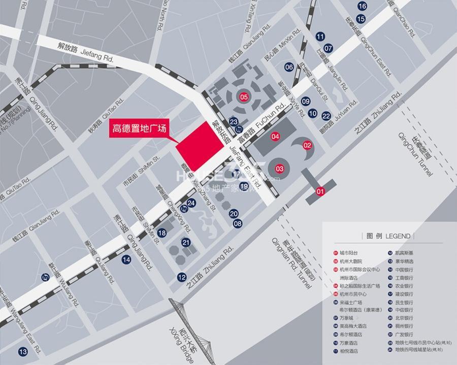 高德置地广场交通图