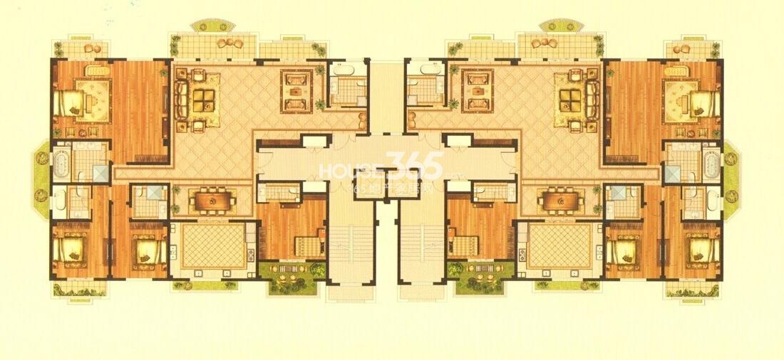 龙世西湖湾庄园平层墅邸8号楼户型图