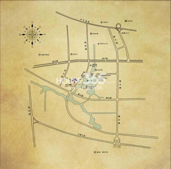 龙世西湖湾庄园交通图
