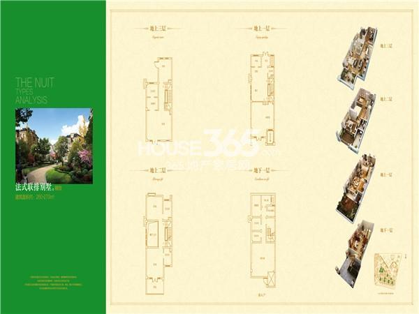 世园大公馆法式联排别墅户型图