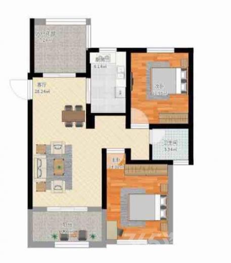 武进绿地白金汉宫3室2厅1卫103�O