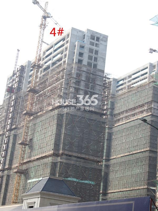 绿城玉兰广场4#楼工程进度实景图(2014.11)