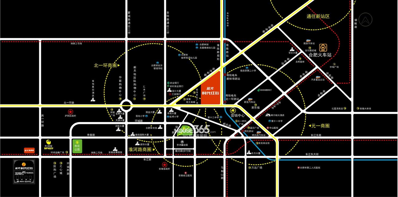 蓝光时代红街交通图