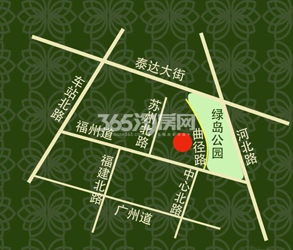 绿岛公寓交通图