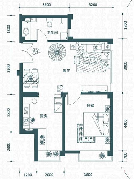 绿岛公寓户型图