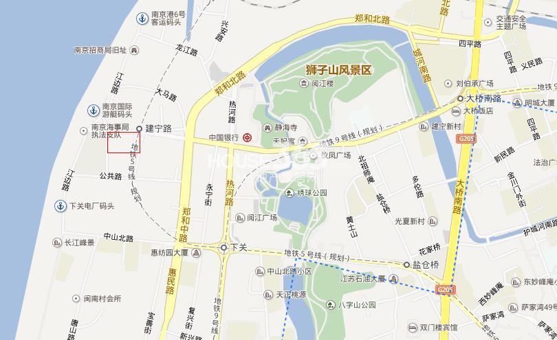 龙湖春江紫宸交通图