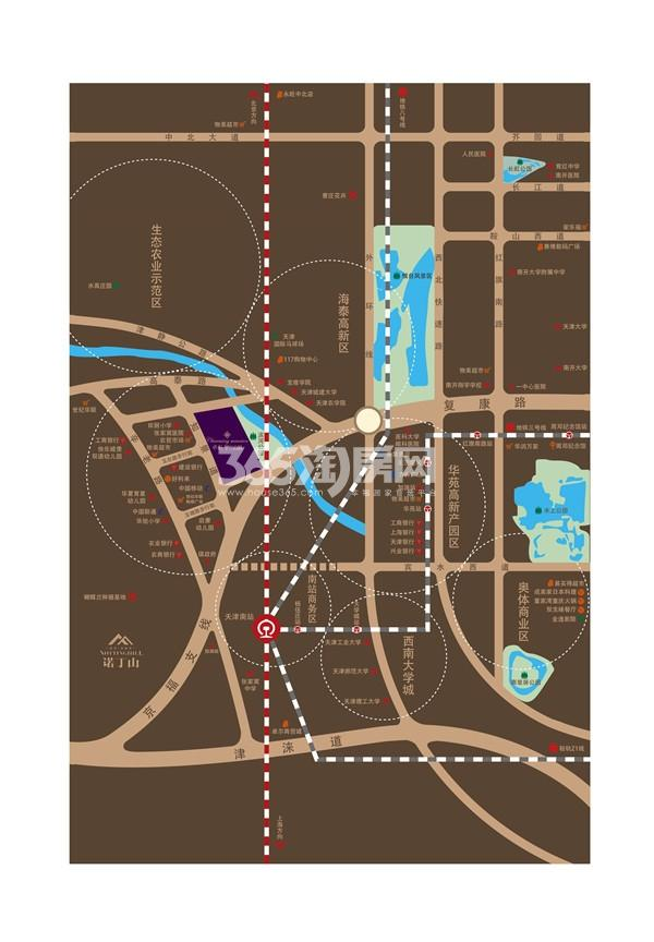 保利罗兰公馆交通图
