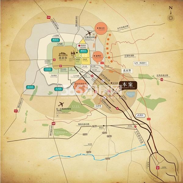 首创新北京半岛交通图