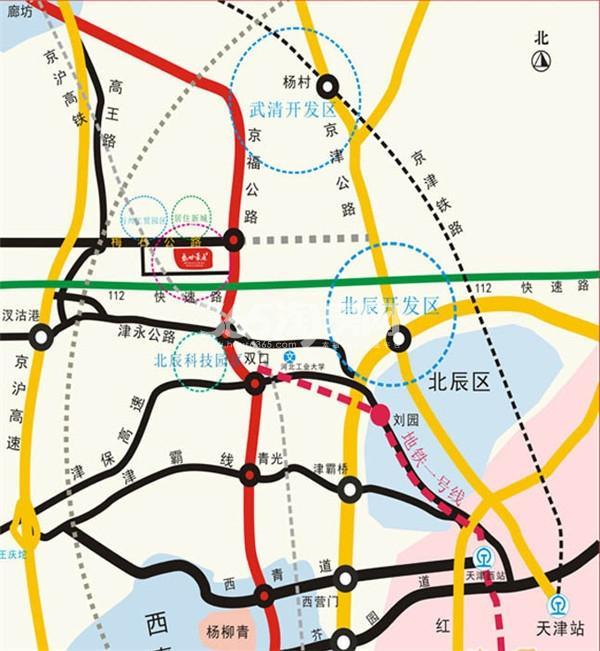 盛世豪庭交通图