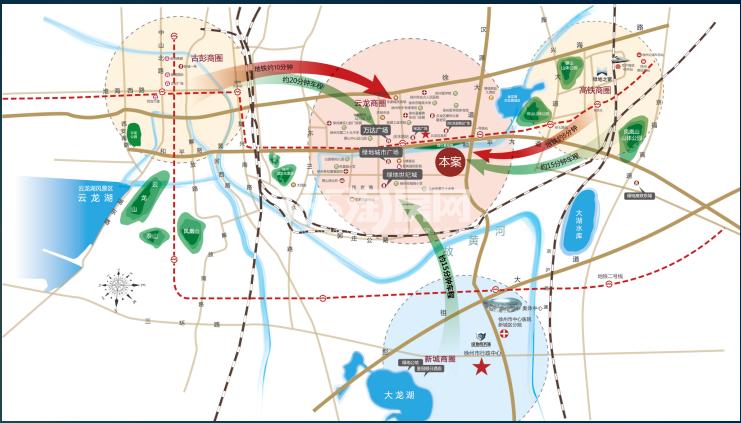 绿地工润和平壹号交通图