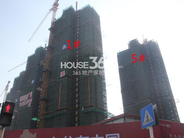 常州宝龙城市广场1#、5#楼工程进度(2014.12)