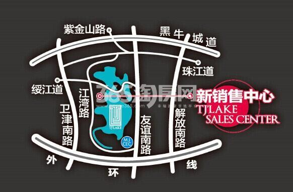 富力津门湖交通图